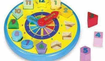 Product Review – Melissa and Doug Wooden Shape Sorting Clock