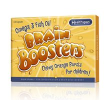 Review – Omega 3 Brain Boosters Orange Chewable Capsules for Children