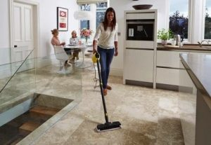 Karcher Steam Stick in use