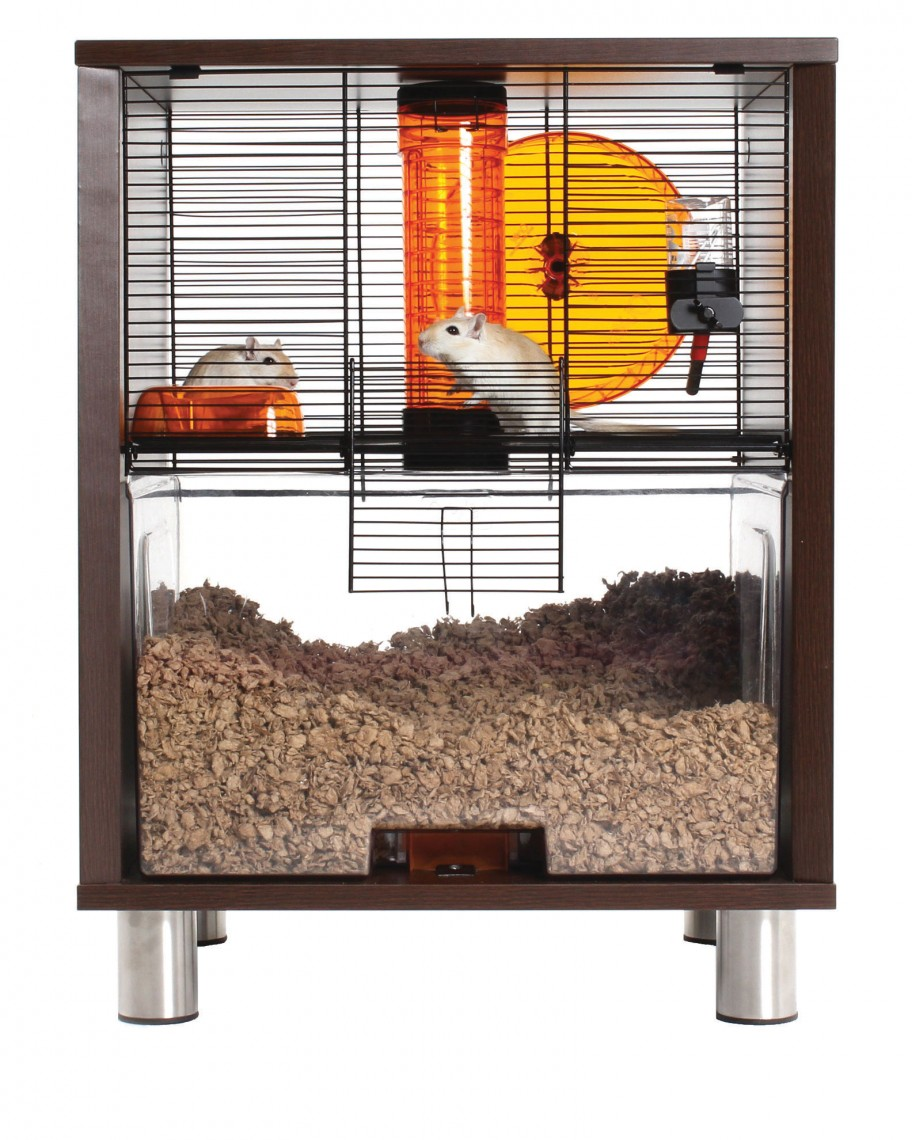 Qute Gerbil Cage in Walnut