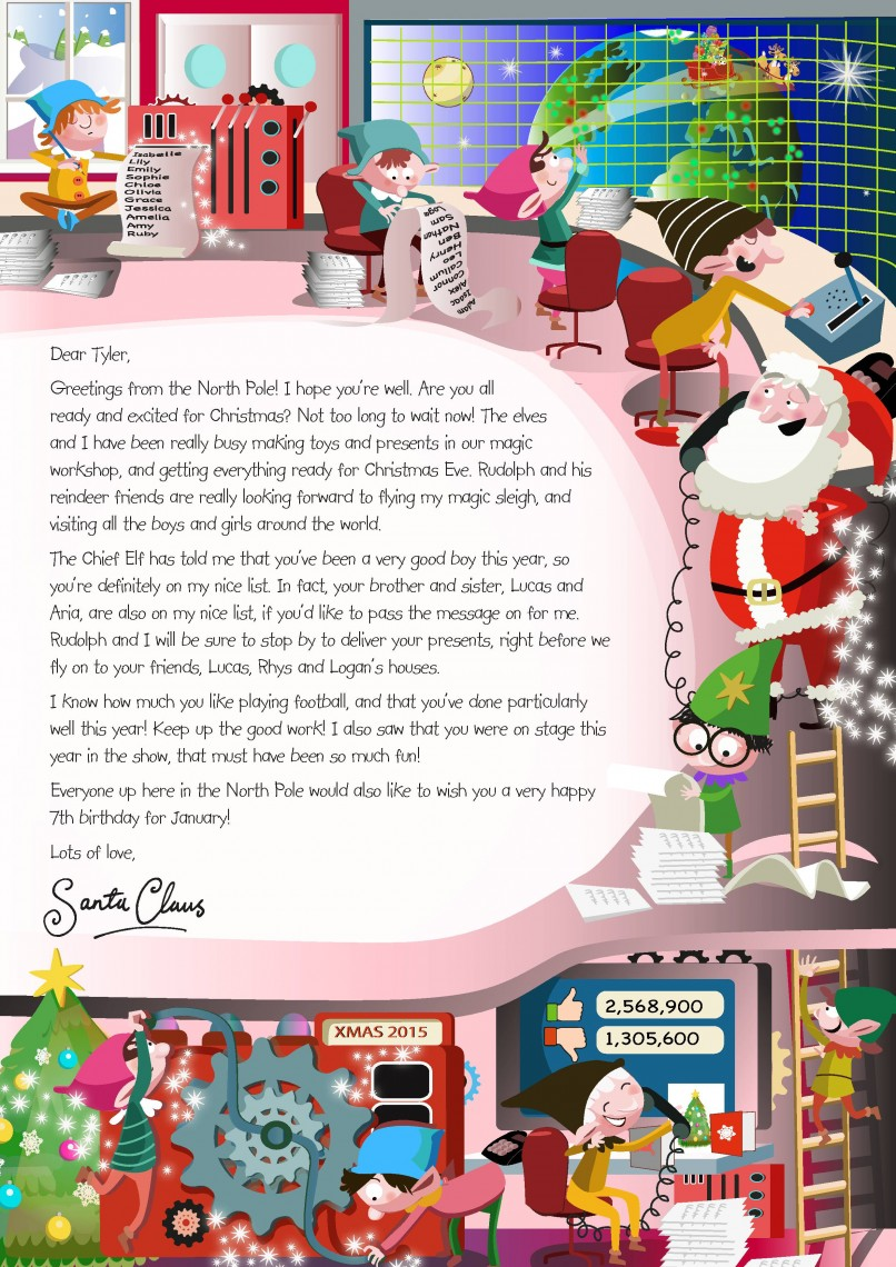 NSPCC Letter to Santa
