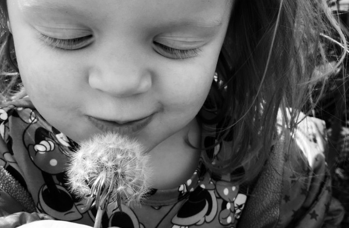 Making a wish for daddy