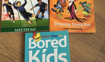 Boredom Busters, Football And Vampire Books for Kids #TommyVCancer