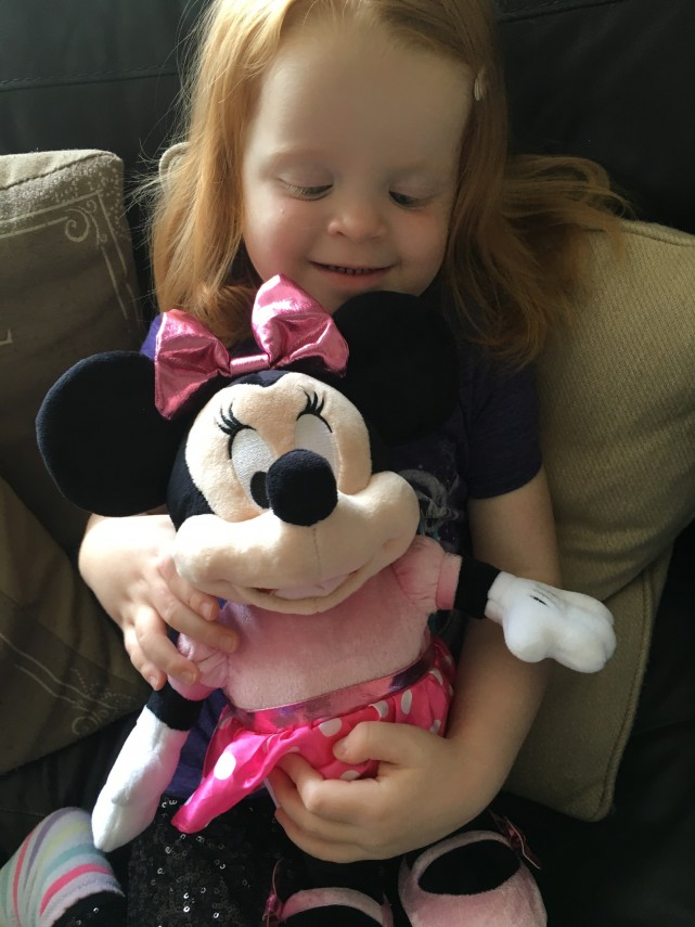 Cuddles for Minnie Mouse