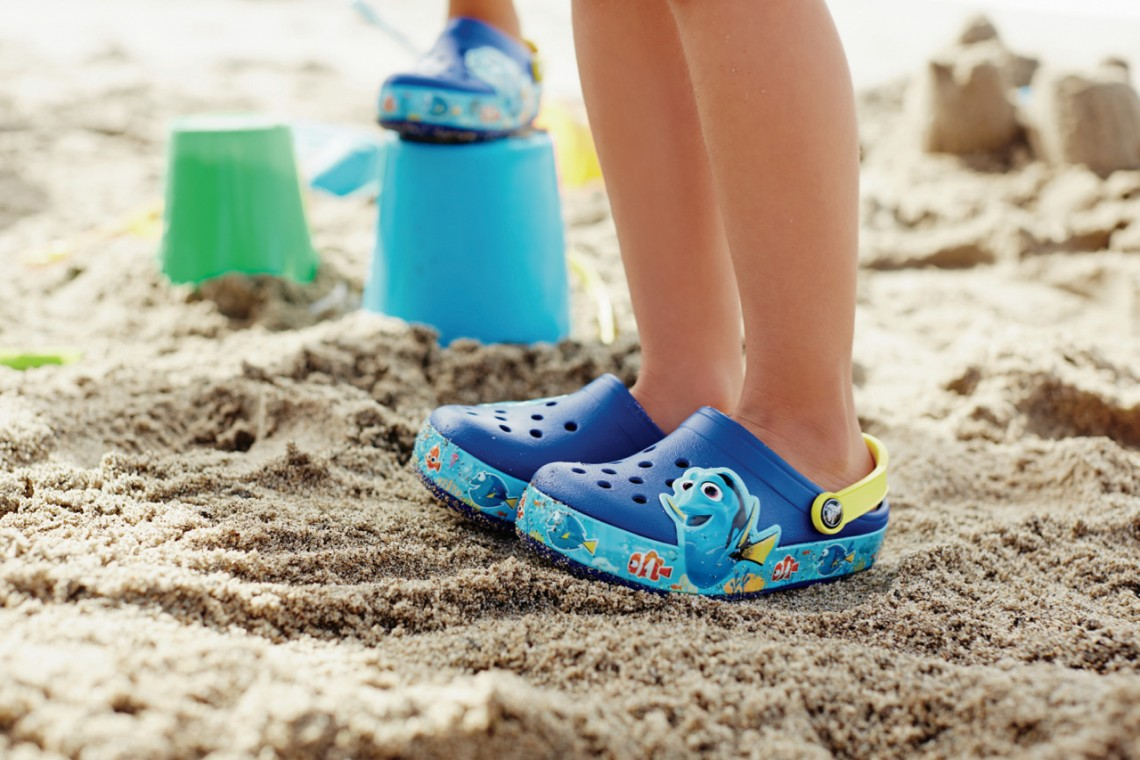 Finding Dory Crocs in the Sand