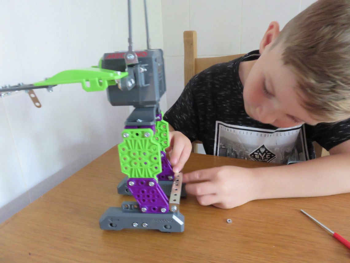 Finishing Meccano MicroNoid Robot