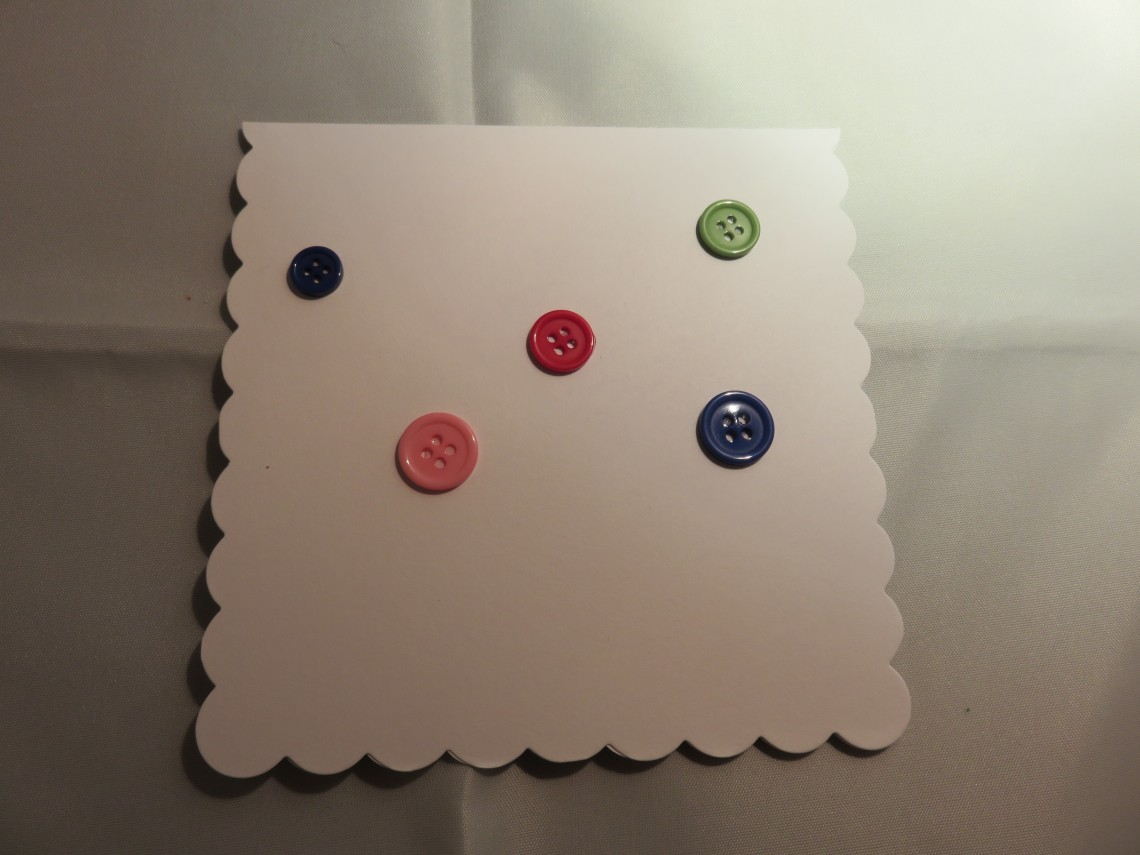Buttons on card