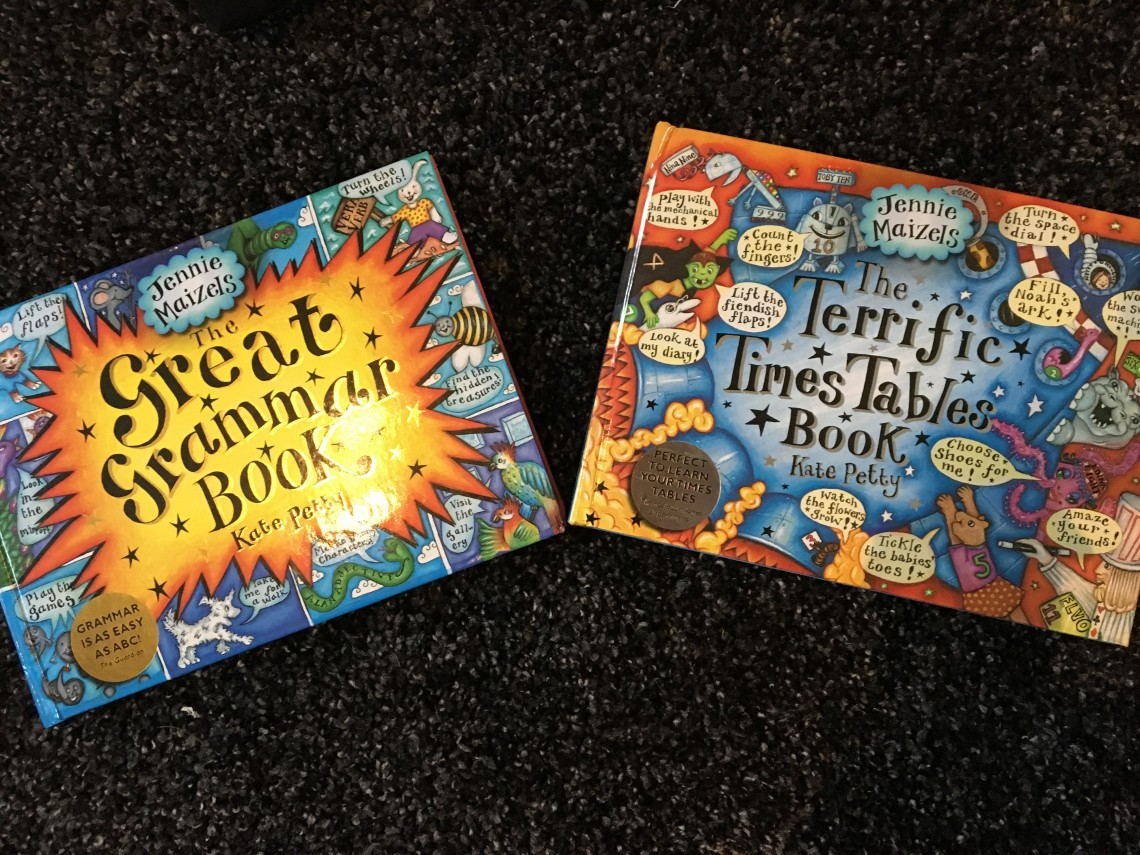 JENNIE MAIZELS- THE GREAT GRAMMAR BOOK AND TERRIFIC TIME TABLES BOOK