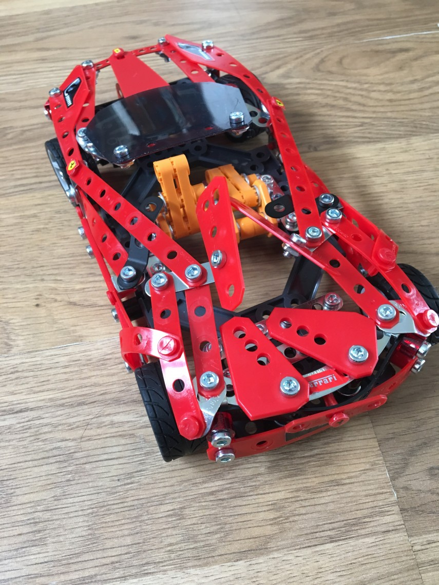 Back of MECCANO FERRARI 488 SPIDER