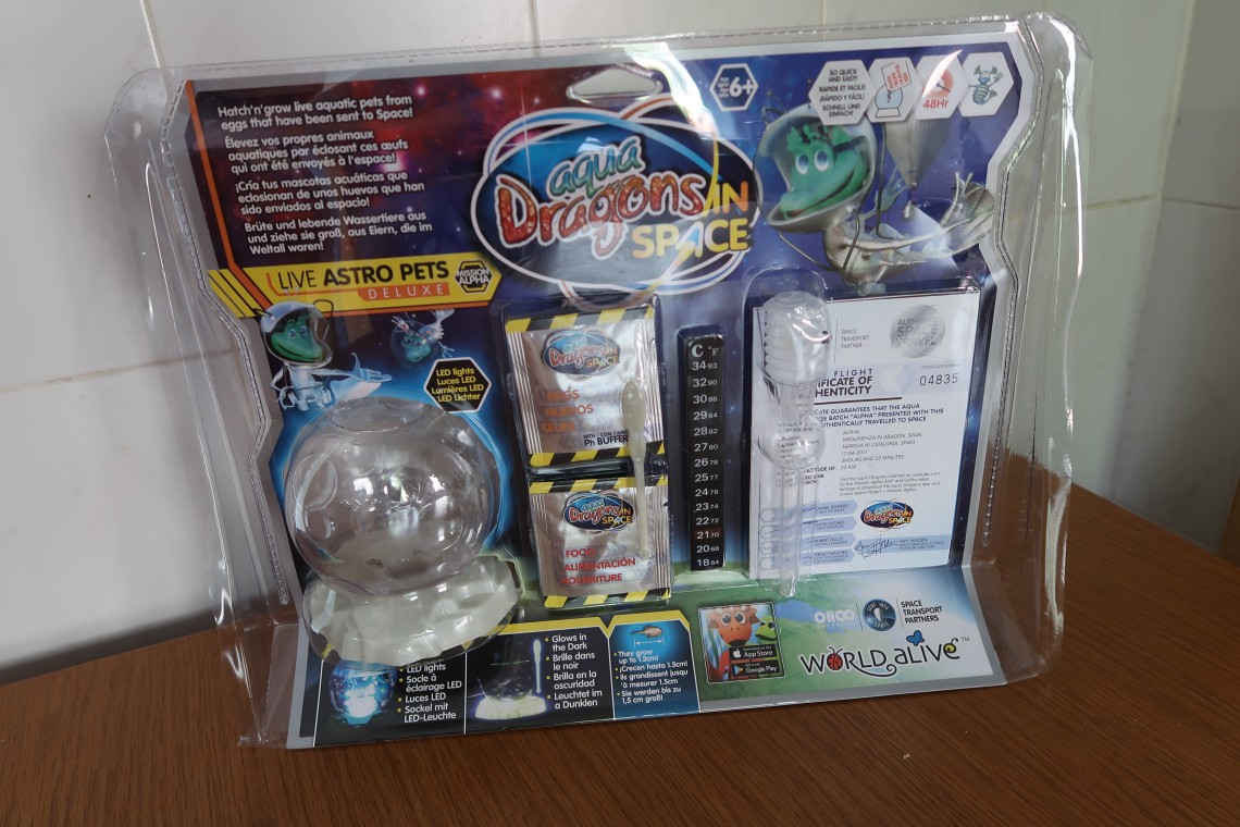 Aqua Dragons in Space Set