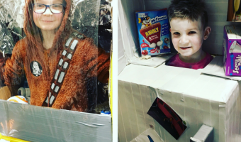 Last Minute Cardboard Box Costumes for Kids