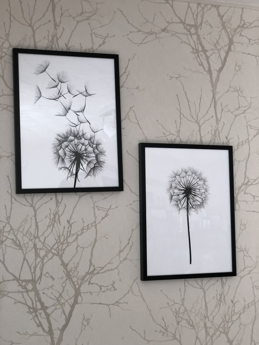 Desenio Dandelion Clock Artwork