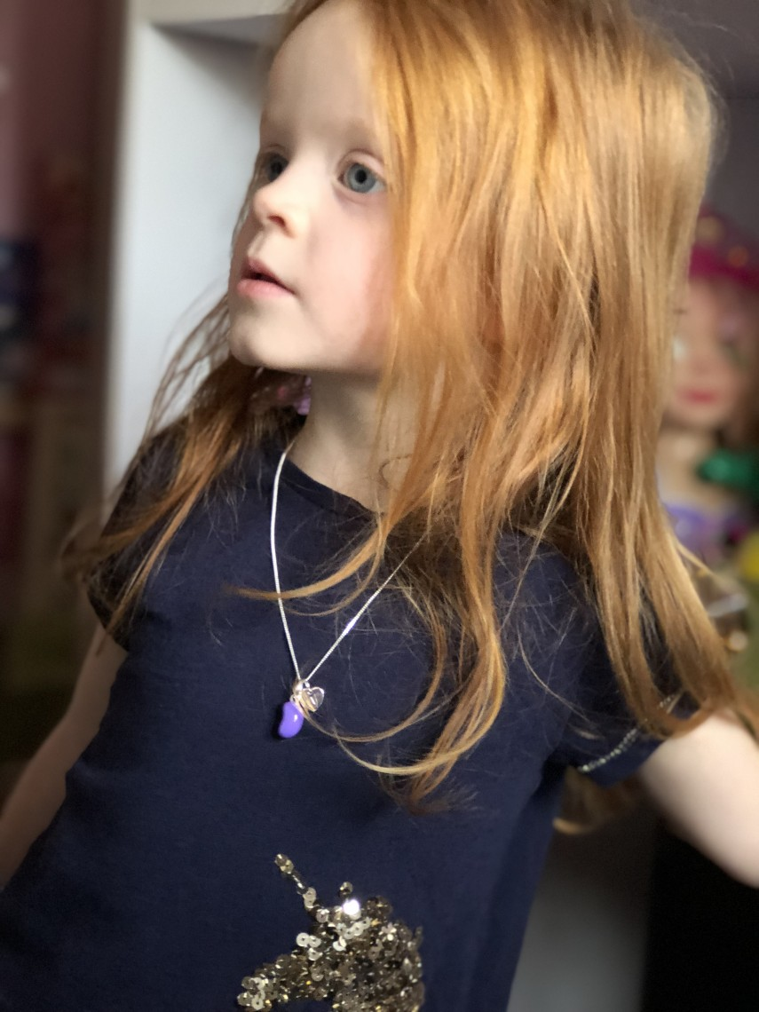 Molly Brown Personalise Grape Jelly Bean Necklace