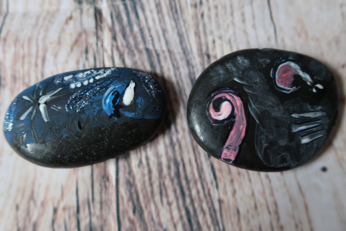 Painted stones craft
