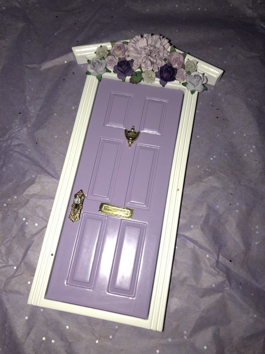 Purple Flower Door