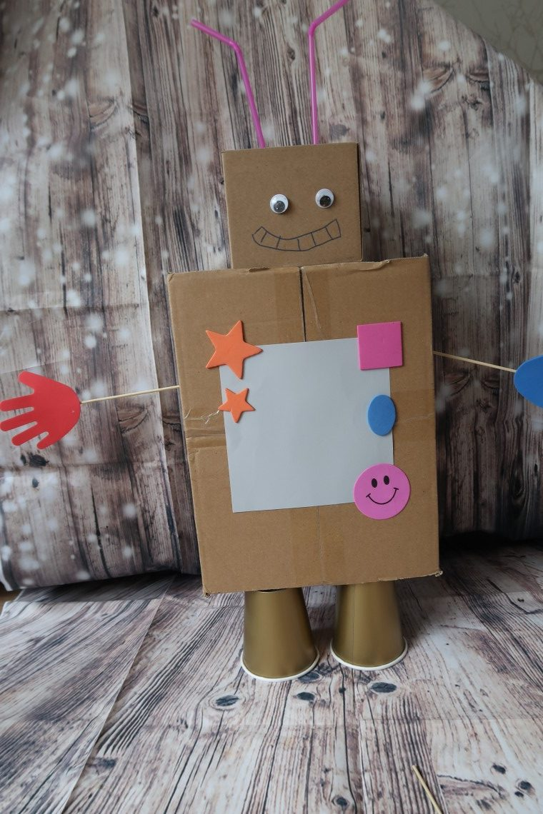 Cardboard Box Robot Craft